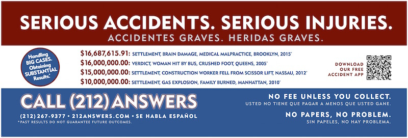 Verdicts & Settlements | Bronx, New York Personal Injury Lawyers